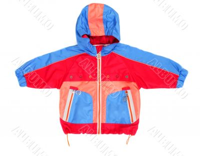 Baby hooded jacket and pocket