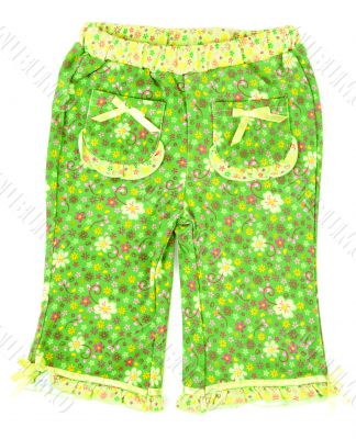 Green trousers from pajamas with pocket