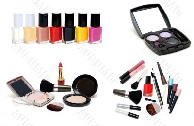 Collage varnish for nail and set for make-up