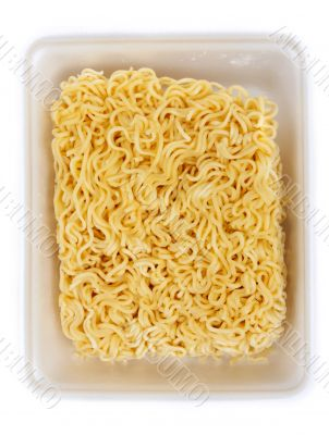 Dry noodles of the quick preparation