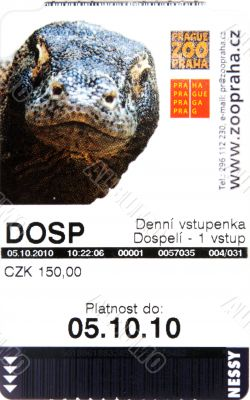 Ticket in Prague zoo