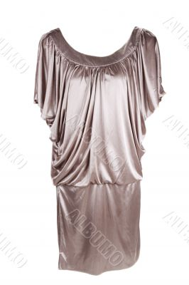 Golden fashionable feminine gown