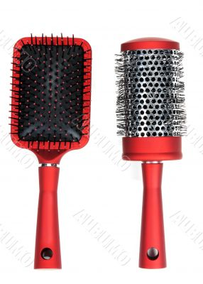Two red massages comb