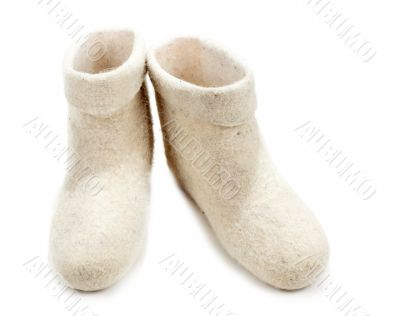 Pair light woolly lock footwear