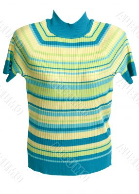 Feminine striped sweater with short sleeve