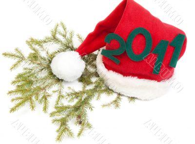 Inscription 2010 on red hat santa