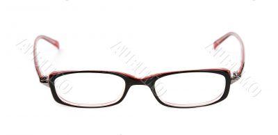 Stylish red glasses
