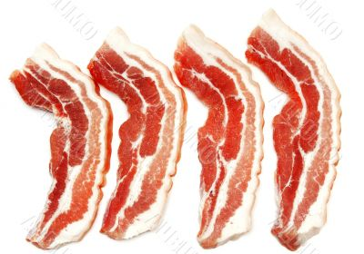 Chunks of raw meat