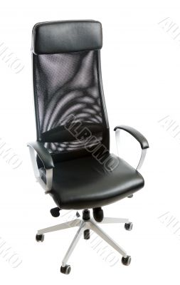 Black leather easy chair