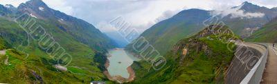 reservoir panorama kaprun