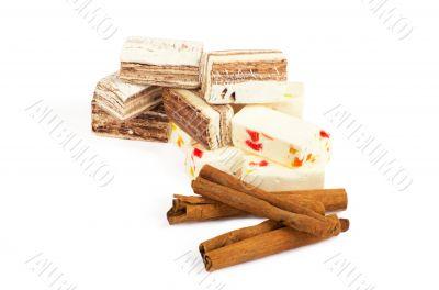 Closeup of sweets and cinnamon