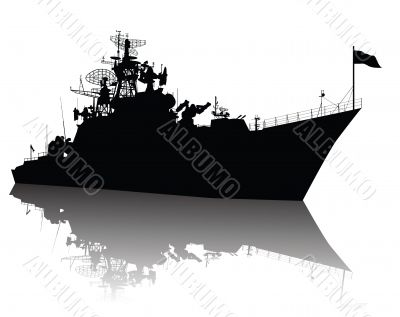 Detailed ship silhouette