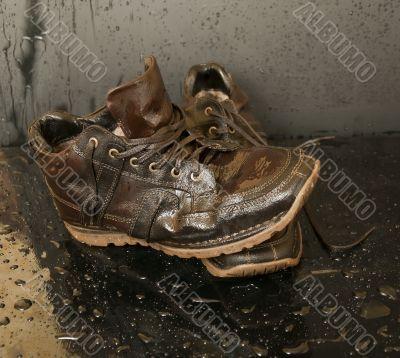 Wet shoes
