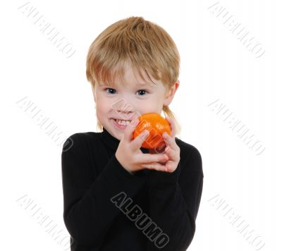 The cheerful child