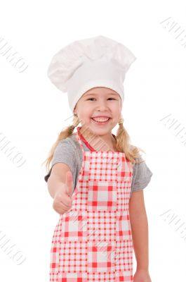 girl in chef`s hat