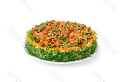 Vegetable cake `Mushroom clearing`