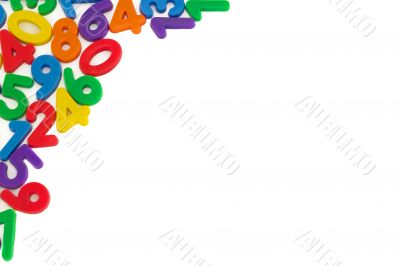 Assorted Numbers, isolated on white
