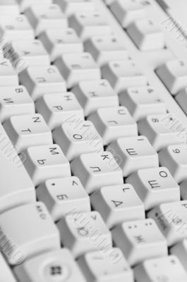 Computer keyboard. English and Russian letters