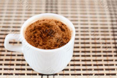 Delicious cup of cappuccino