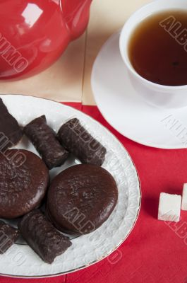 Sweets for tea, biscuits, cakes and chocolates