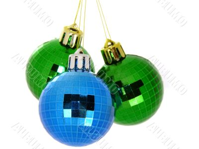 Christmas tree balls isolated on a white background
