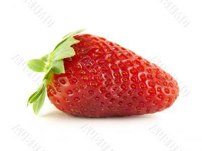 Appetizing strawberry isolated on white background