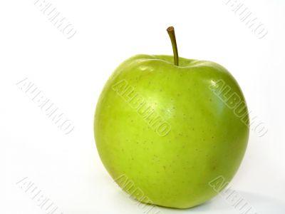 Delicious apple on white