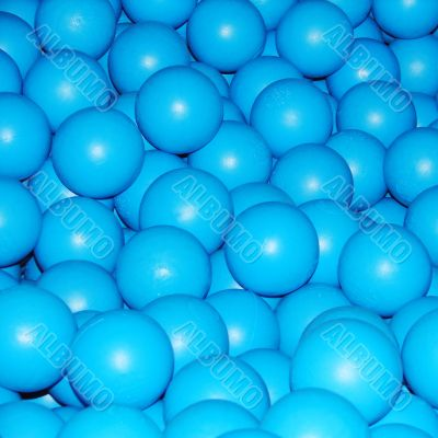 Blue balls abstract background