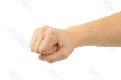 Strong boy fist hand