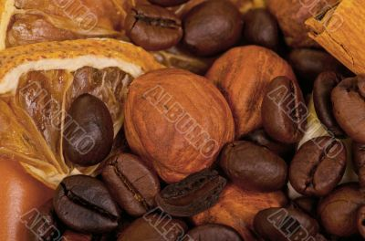 coffee beans and nuts