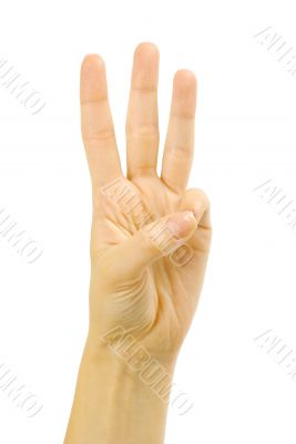 Front right hand three fingers
