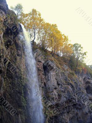 Honey waterfalls. North Caucasus travels. The Autumn