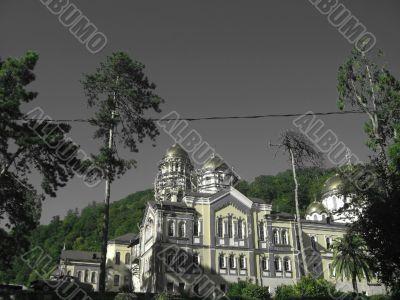 New Aphon monastery. Orthodox church. Abkhazia republic