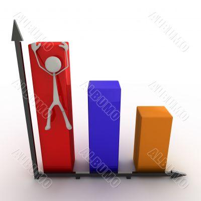 figure climbing on the diagram