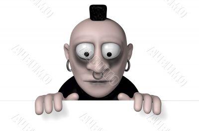 gothic cartoon character