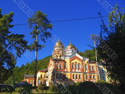 New Aphon monastery. Orthodox church. Abkhazia republic