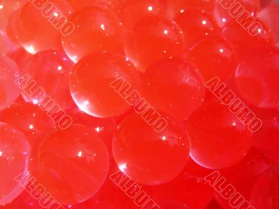 red balls artificial soil