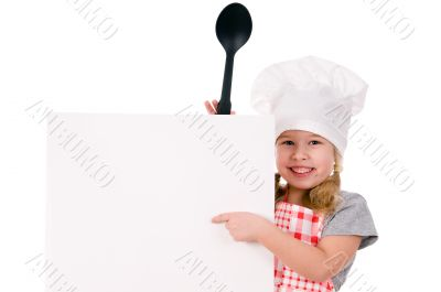 girl in chef`s hat