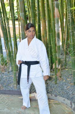 Karate and bamboo