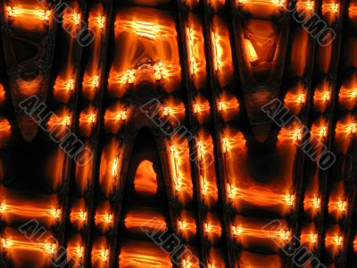 Abstract background with fiery shades