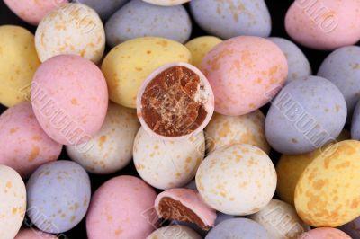 mini sugar coated eggs