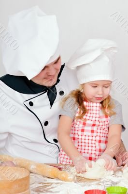 chef with girl