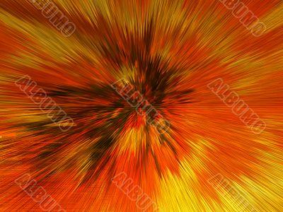 Orange and yellow explosion