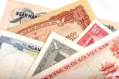 Vietnamese old banknotes