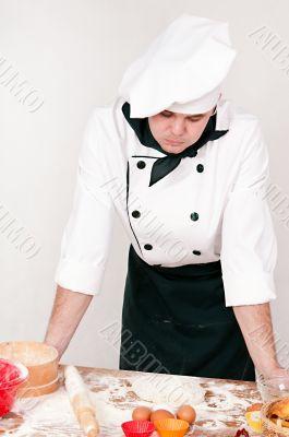 pensive chef