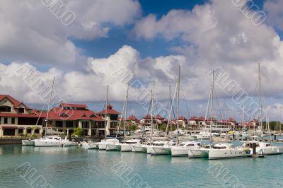 Luxury residency and marina at Eden Island, Seychelles