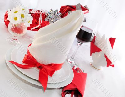 Serving holiday table