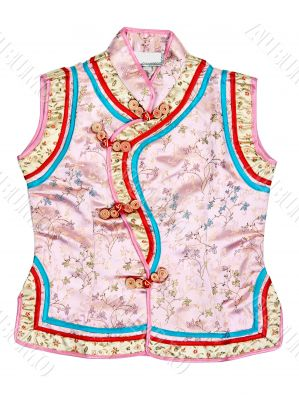 Eastern baby dress with an embroidered floral pattern