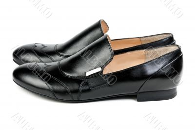 a pair of stylish classic black shoes
