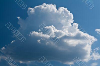 beautiful surround a white cloud